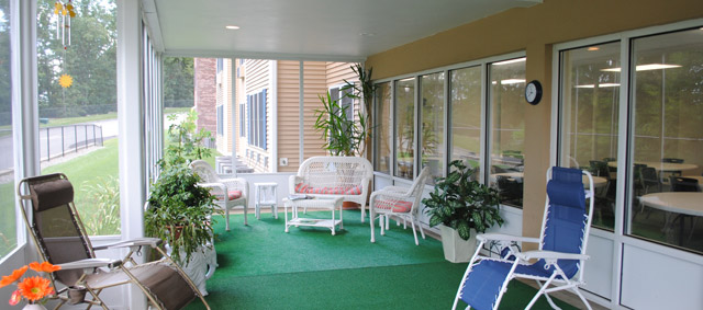Center Hill Apartments - community room porch